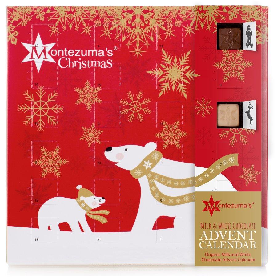 Advent Calendar 2016 Chocolate : Montezumas milk and white chocolate advent calendar