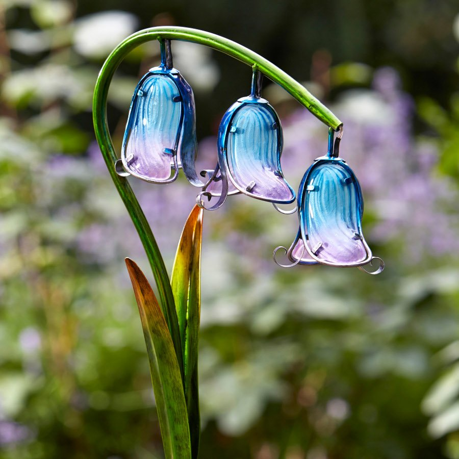 Garden With Lights: Solar Powered Bluebell Stake Light