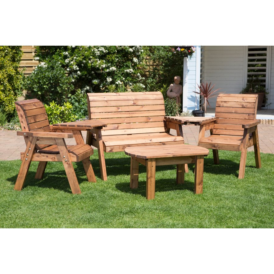 Four Seater Garden Furniture Set Hb07 Natural
