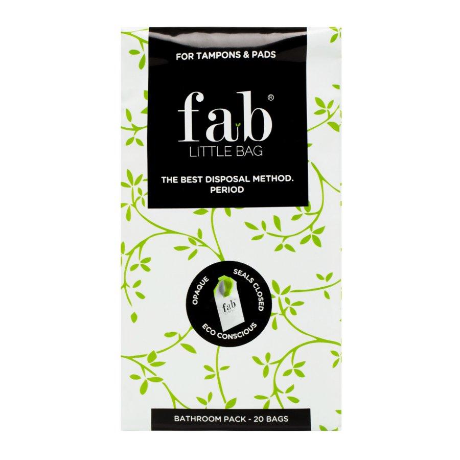 Fab Little Bag Tampon Disposal Bags Bathroom Pack Of 20