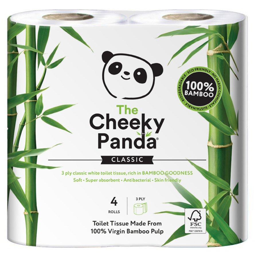 The Cheeky Panda Fsc Bamboo Toilet Tissue 4 Rolls The