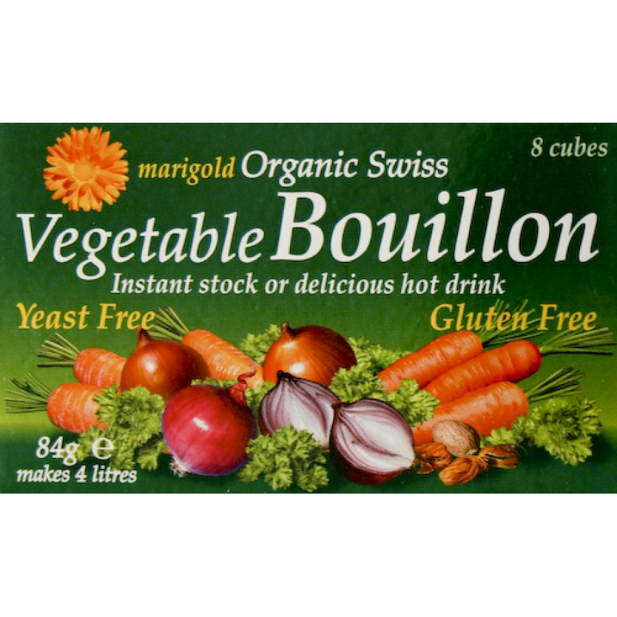 Pack of 2 Marigold Bouillon Stock Cubes - Yeast Free and Gluten Free - 84g