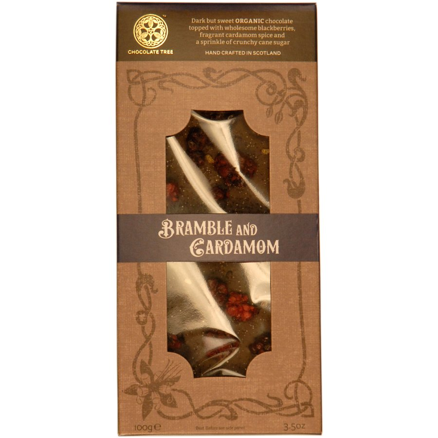 Chocolate Tree Organic Couverture Bramble & Cardamom Dark ...