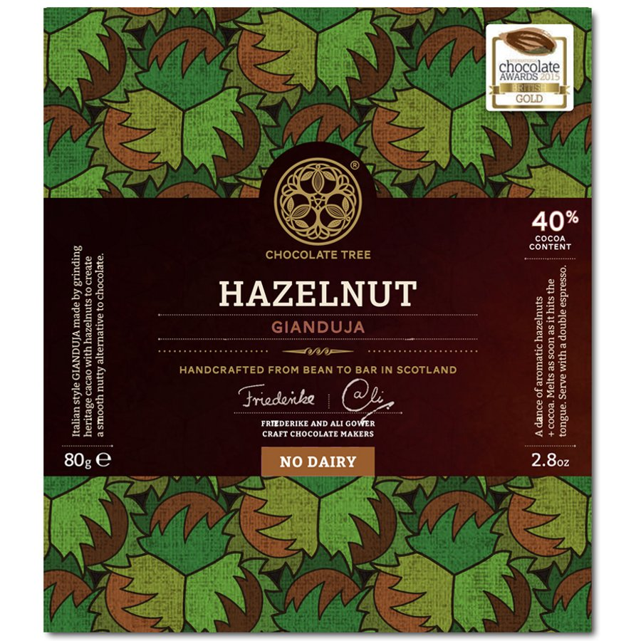 Chocolate Tree - Hazelnut Gianduja 40% Dairy Free Milk Chocolate ...