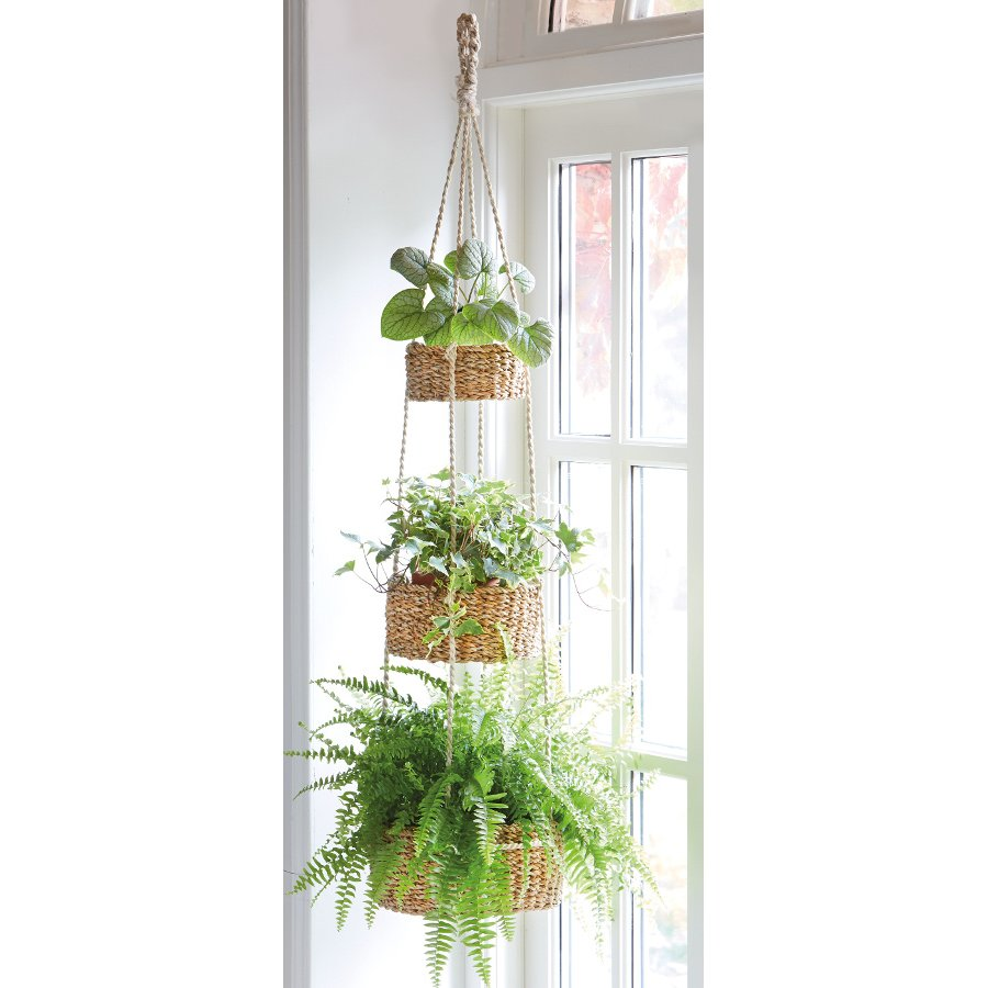 Three Tier Hanging Basket Natural Collection Select