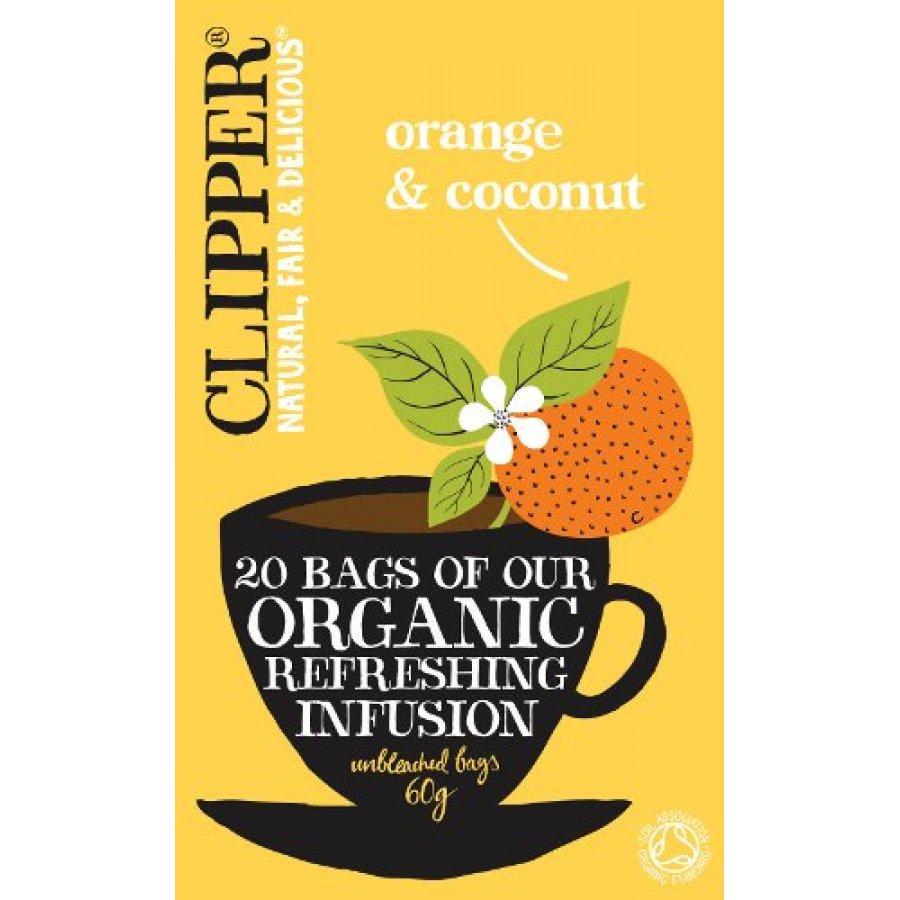 clipper orange coconut tea 20 bags ethical superstore. Black Bedroom Furniture Sets. Home Design Ideas