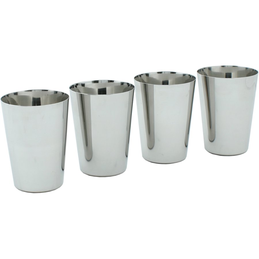 A Slice Of Green Stainless Steel Cups Set Of 4 A Slice