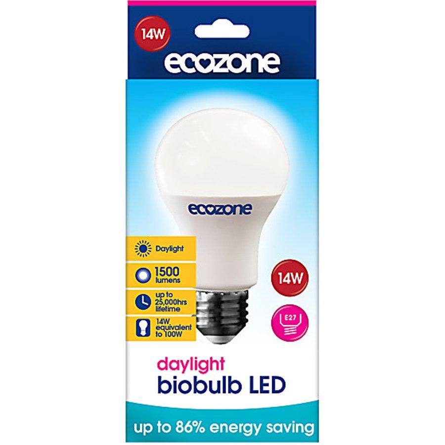 ecozone e27 daylight led biobulb 14 watt 100 watt. Black Bedroom Furniture Sets. Home Design Ideas