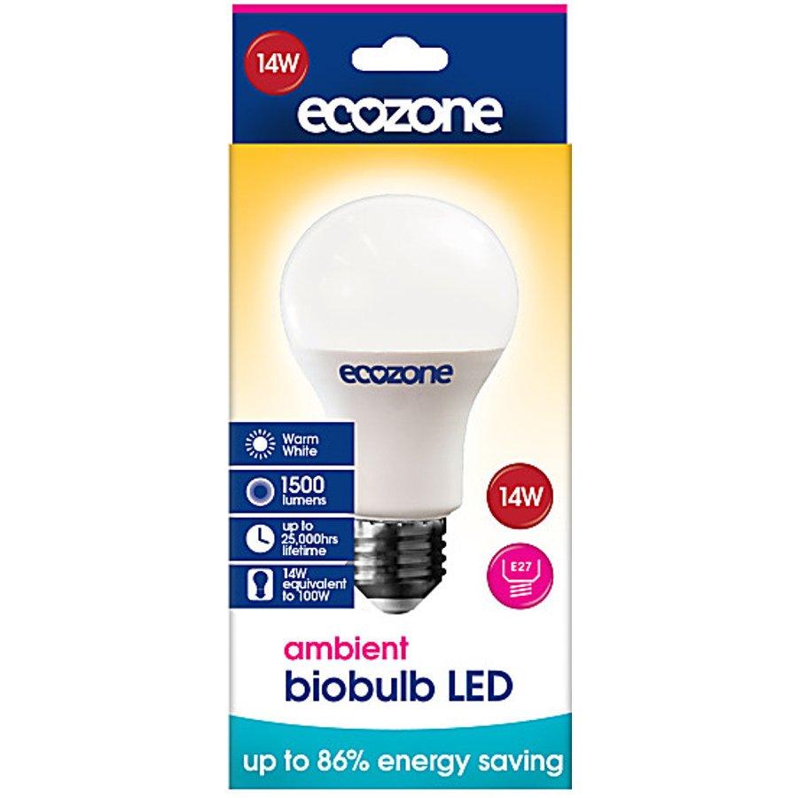 ecozone e27 ambient led biobulb 14 watt 100 watt. Black Bedroom Furniture Sets. Home Design Ideas