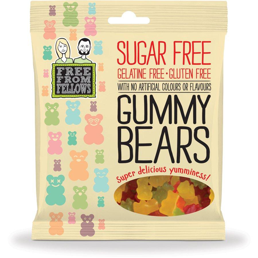 free from fellows vegan sugar free gummy bear sweets 100g free