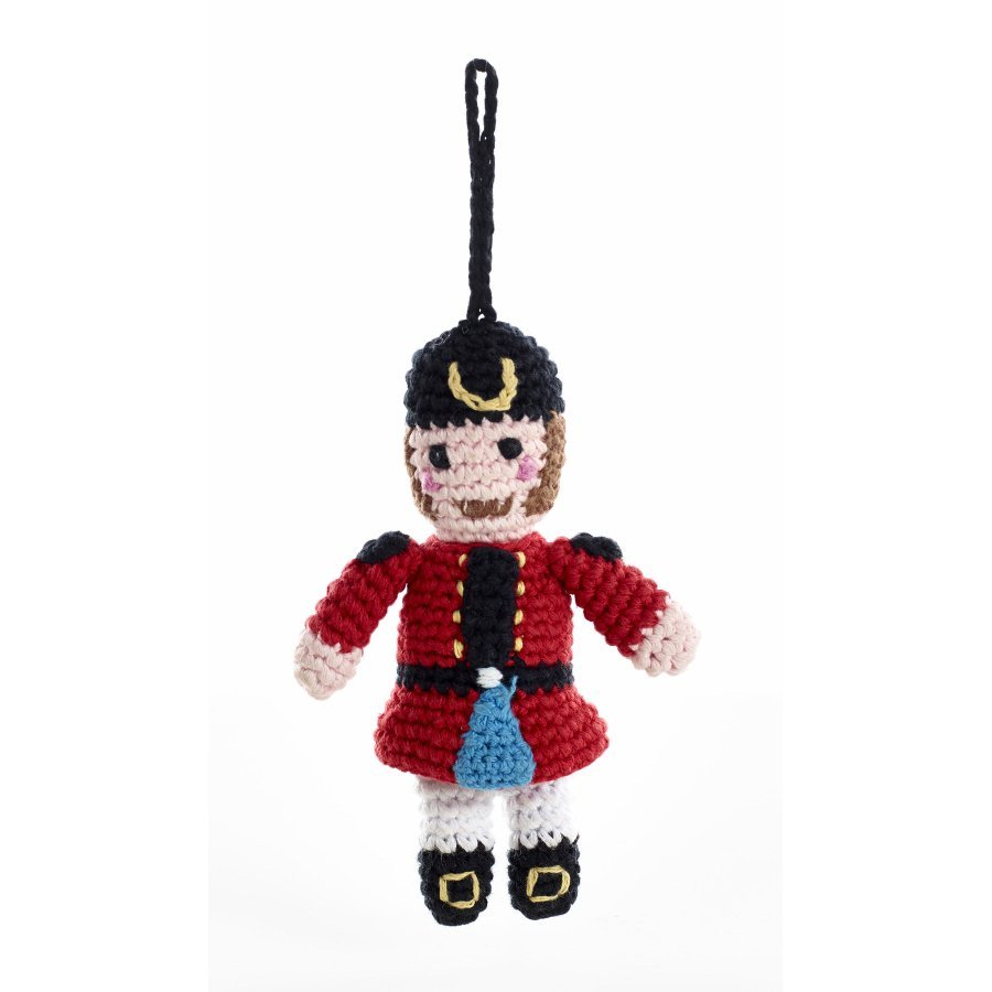 Knitted Nutcracker Christmas Decoration - Natural Collection Select