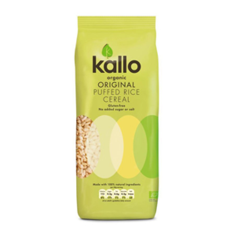 Kallo Natural Puffed Rice Cereal 275g