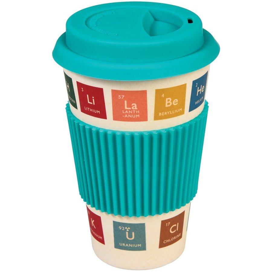 Periodic table bamboo travel mug natural collection select urtaz Images