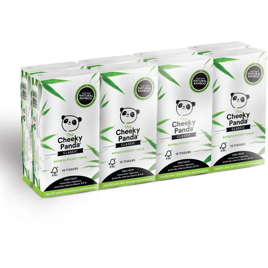 The Cheeky Panda Fsc 100 Bamboo Pocket Tissue 8 Pack