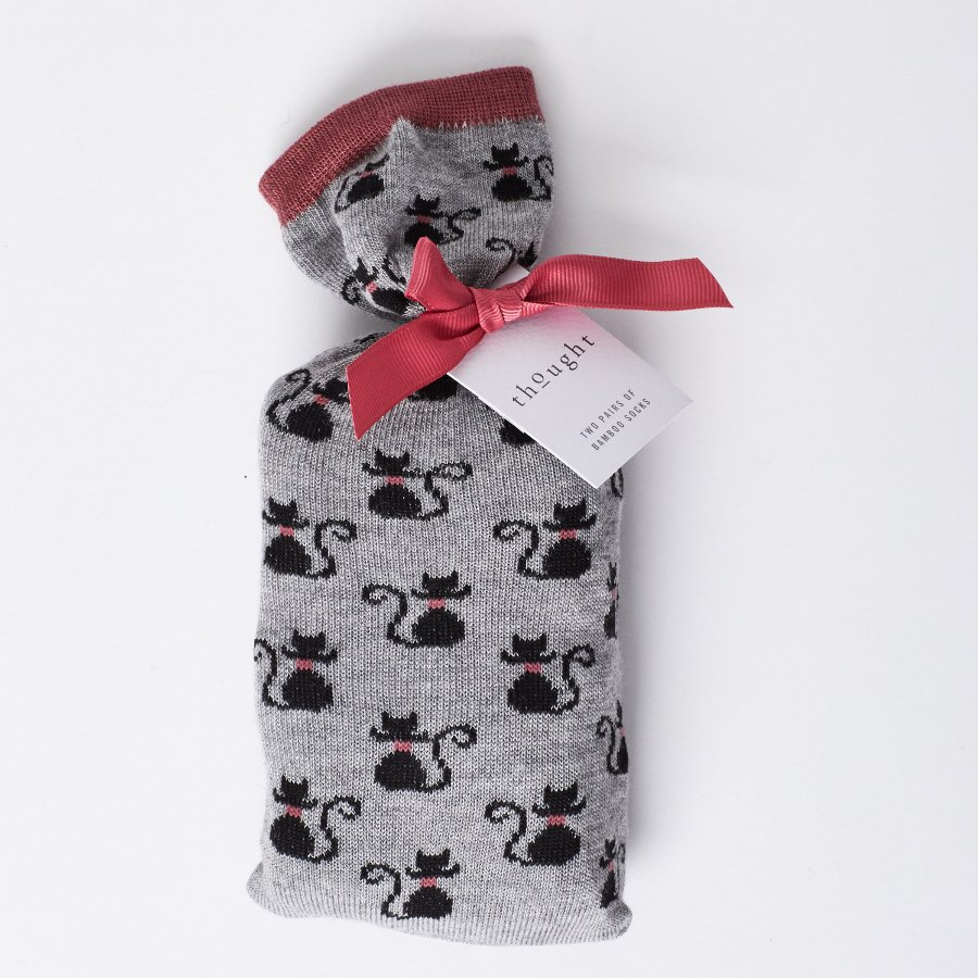 d9c03a023247 Thought Womens Bamboo Black Cat Sock in Bag Gift Set - Thought (formerly  Braintree Clothing)