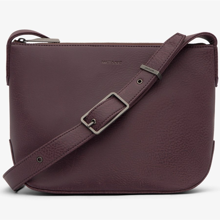 a4f226f20dd1a9 Matt & Nat Sam Vegan Crossbody Bag - Fig - Matt & Nat