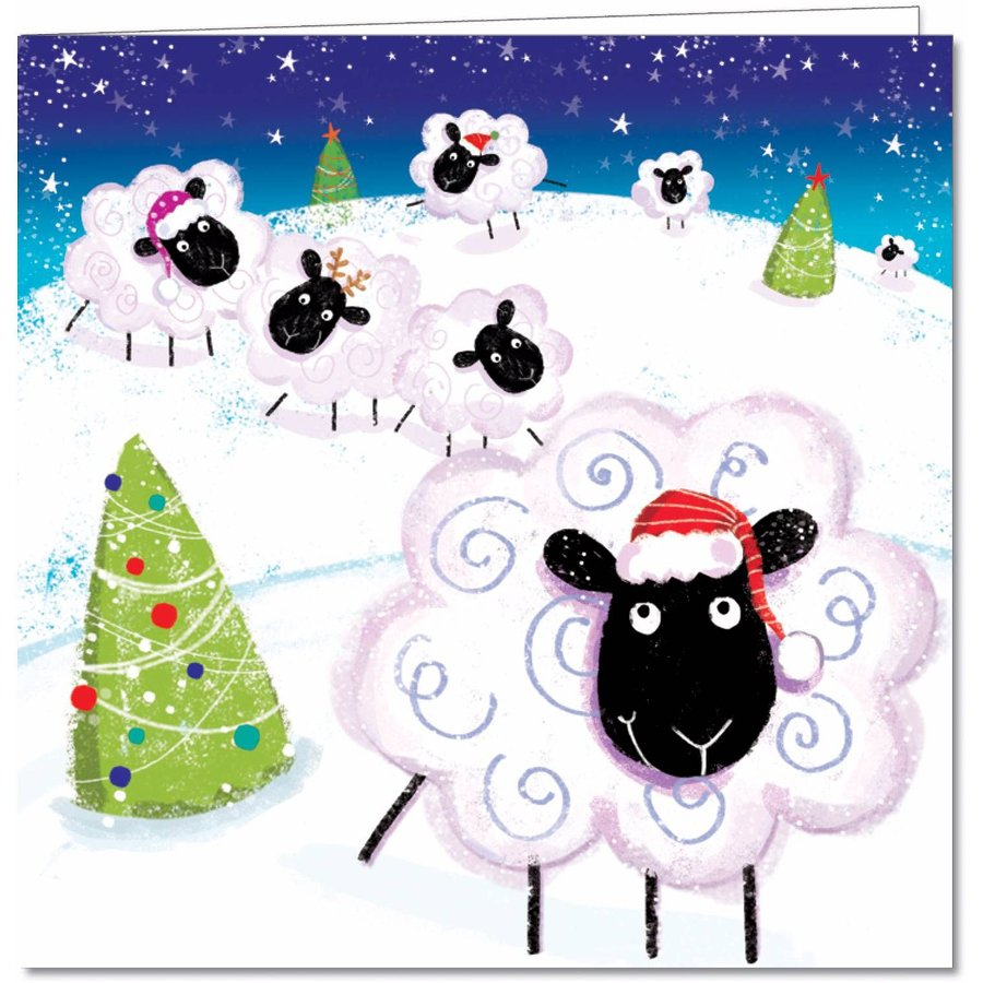Woolly Warmers Charity Christmas Cards - 10 Pack - Natural ...