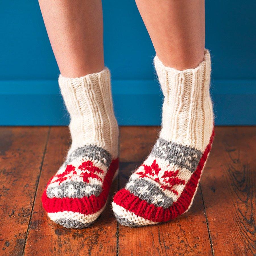 2d6f6e5a0e033 Womens Snowflake Lined Slipper Socks - Pachamama