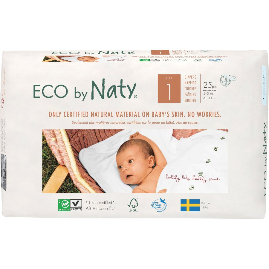 Eco By Naty Disposable Nappies Size 1 - Newborn