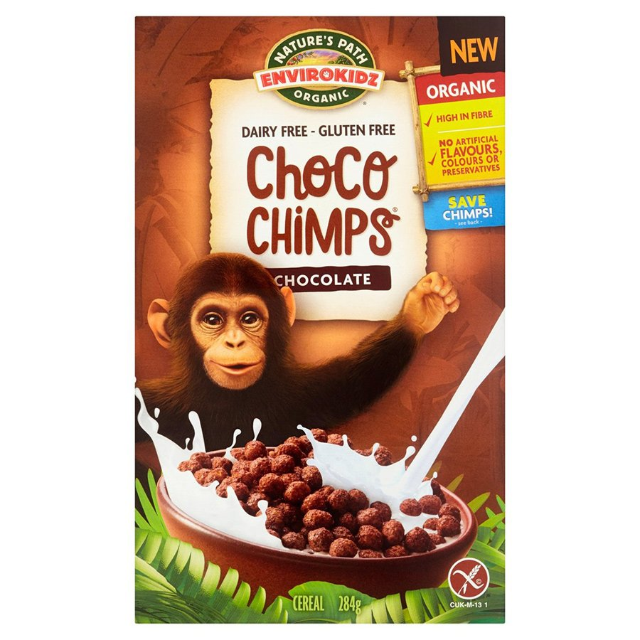 Natures Path Organic Choco Chimps Cereal - 284g - Natures Path