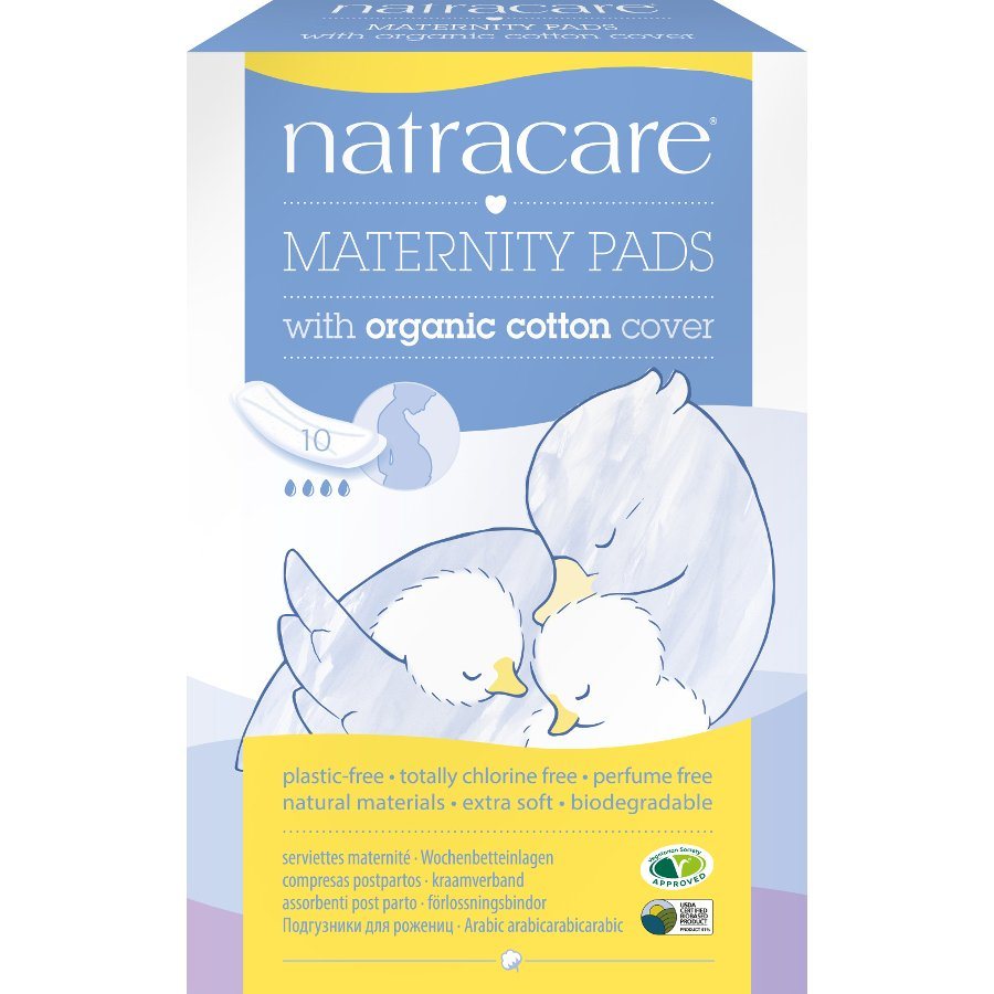 10s Organic Natracare New Mother Maternity Pads 6 Pack