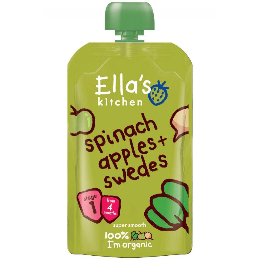ellas kitchen spinach apples swede 120g ellas kitchen - Ellas Kitchen