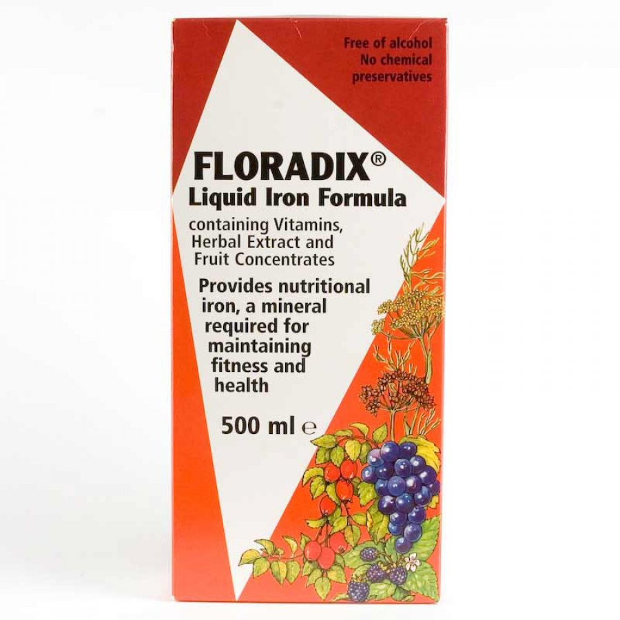 Floradix Liquid Iron Formula 500ml Floradix