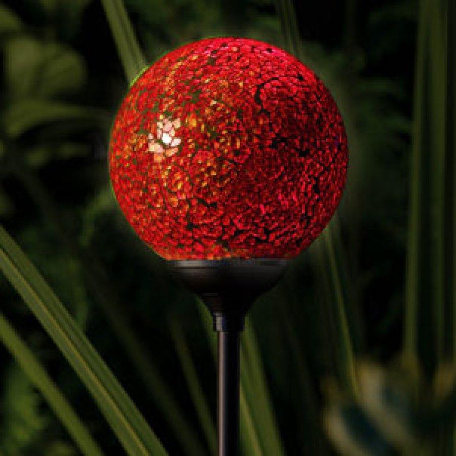 Garden Globe Lights Solar : Solar powered garden globe light murano sunset technology