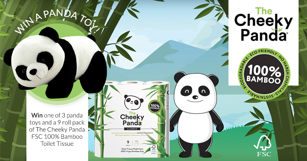 Win one of three Cheeky Panda toys, along with a 9 Pack of The Cheeky Panda Toilet Tissue