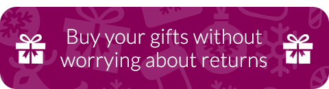 Buy your gifts without worrying about returns