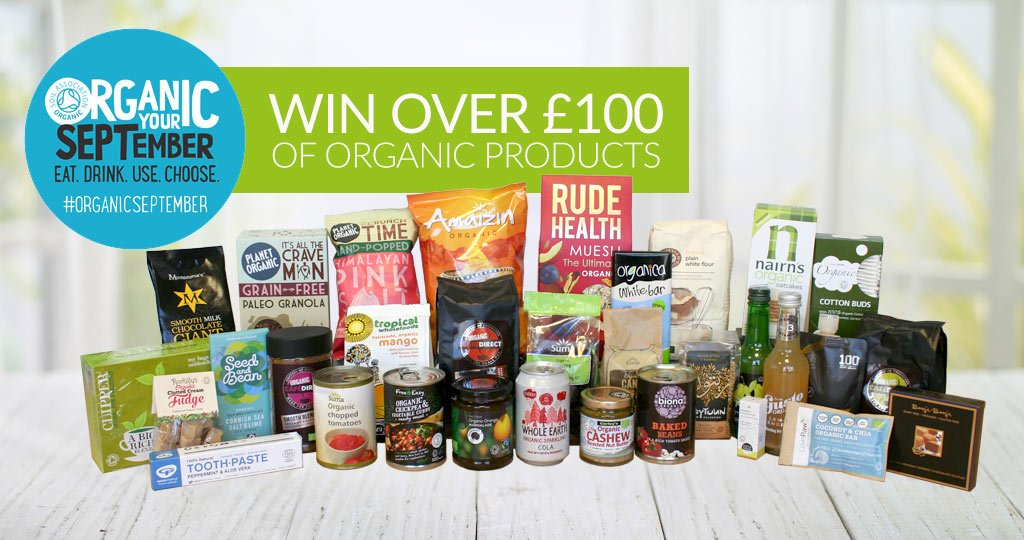 Win a bundle of Organic products for Organic September